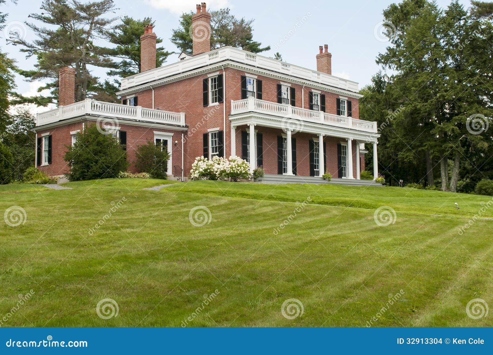 Federal Style House Plans superb old style house plans #1: elegant-brick-mansion-exterior