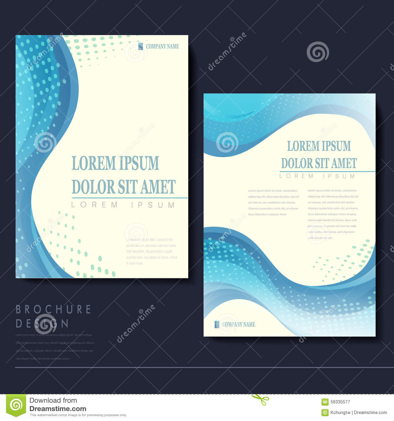 Elegant Brochure Template Design Stock Vector Illustration - Elegant brochure templates