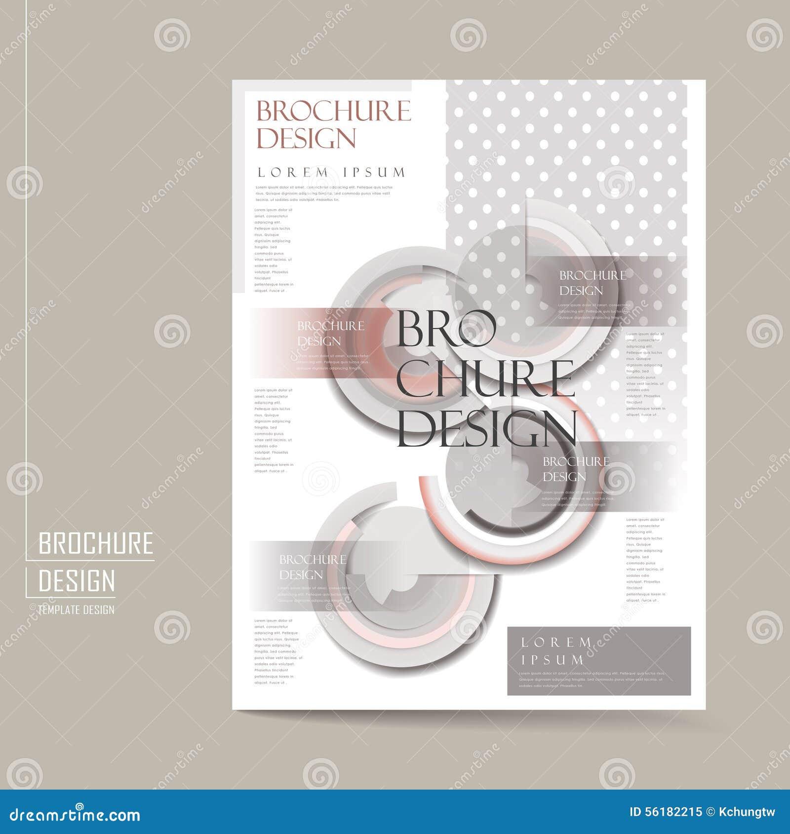 Elegant Brochure Template Design Stock Vector Illustration Of