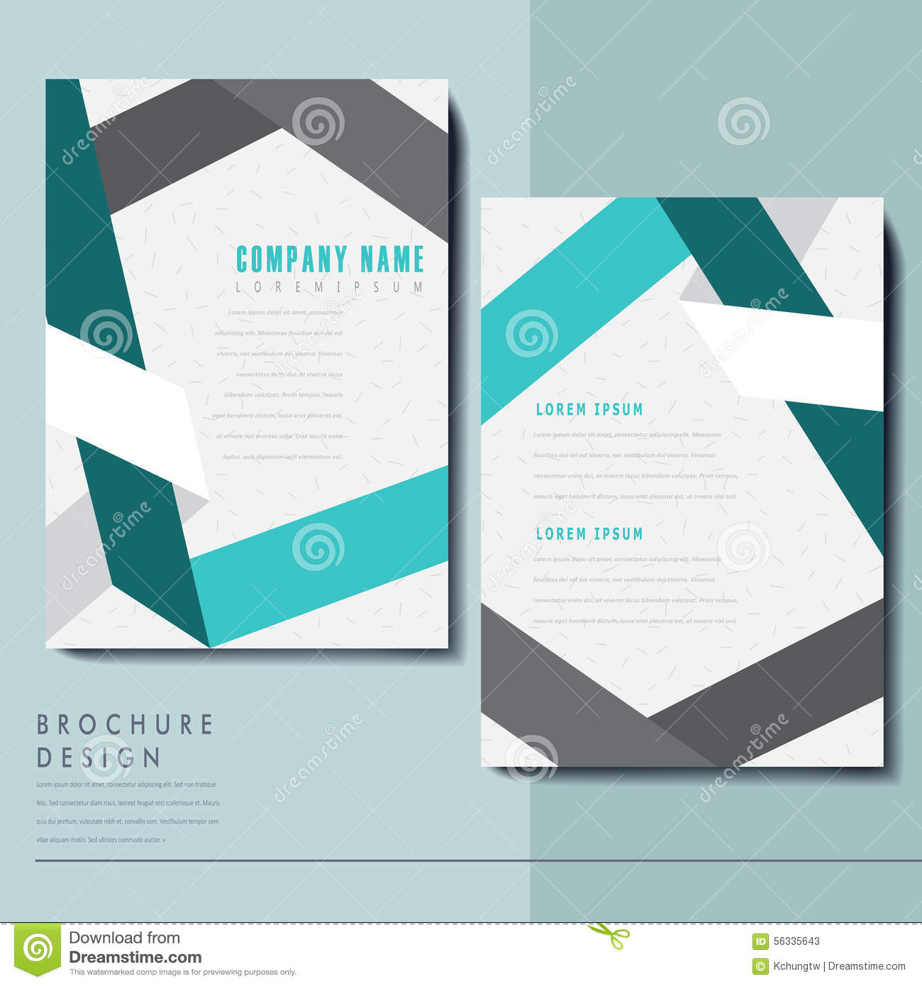 classy brochure design - elegant brochure template design stock vector