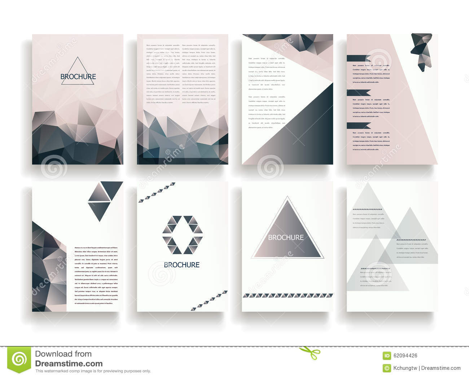 Elegant Brochure Template Stock Vector Illustration Of Leaflet