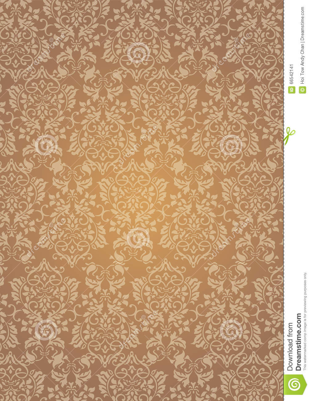 Elegant Brown Flowers Pattern Textured Wallpaper Background