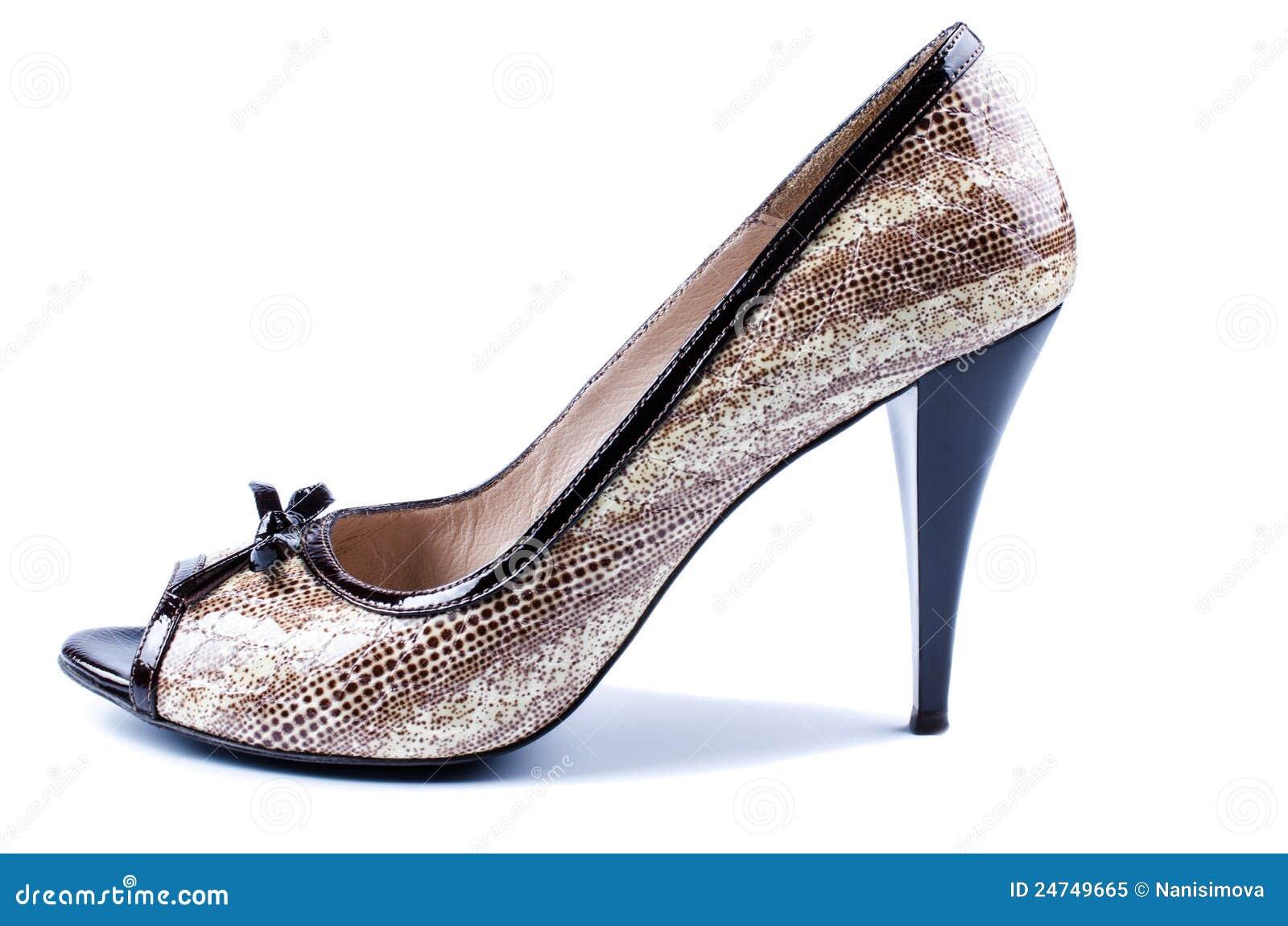 Royalty Free Stock Photo: Elegant brown women s shoes