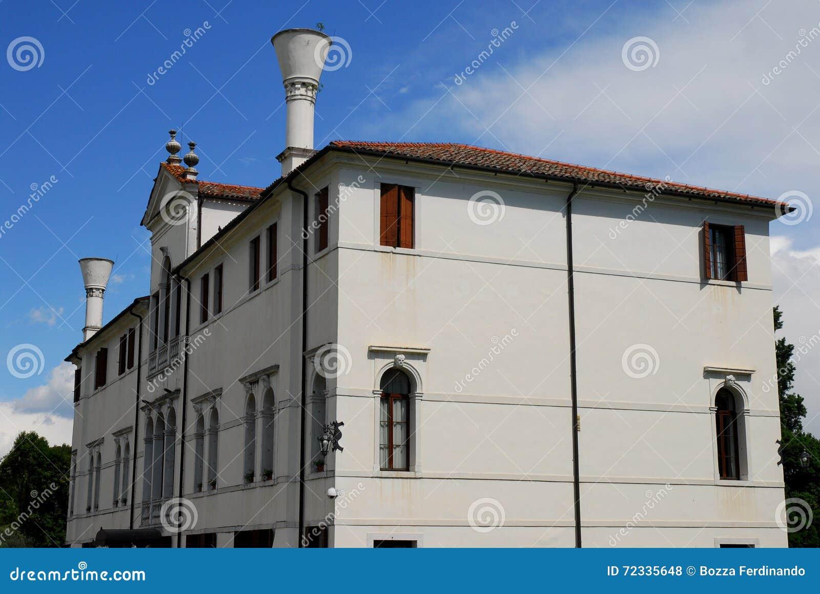 Elegant building in Portobuffolè in the province of Treviso in the Veneto (Italy)