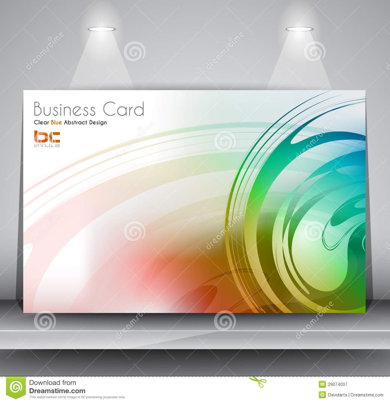 Elegant business card design template stock illustration elegant business card design template flashek Gallery