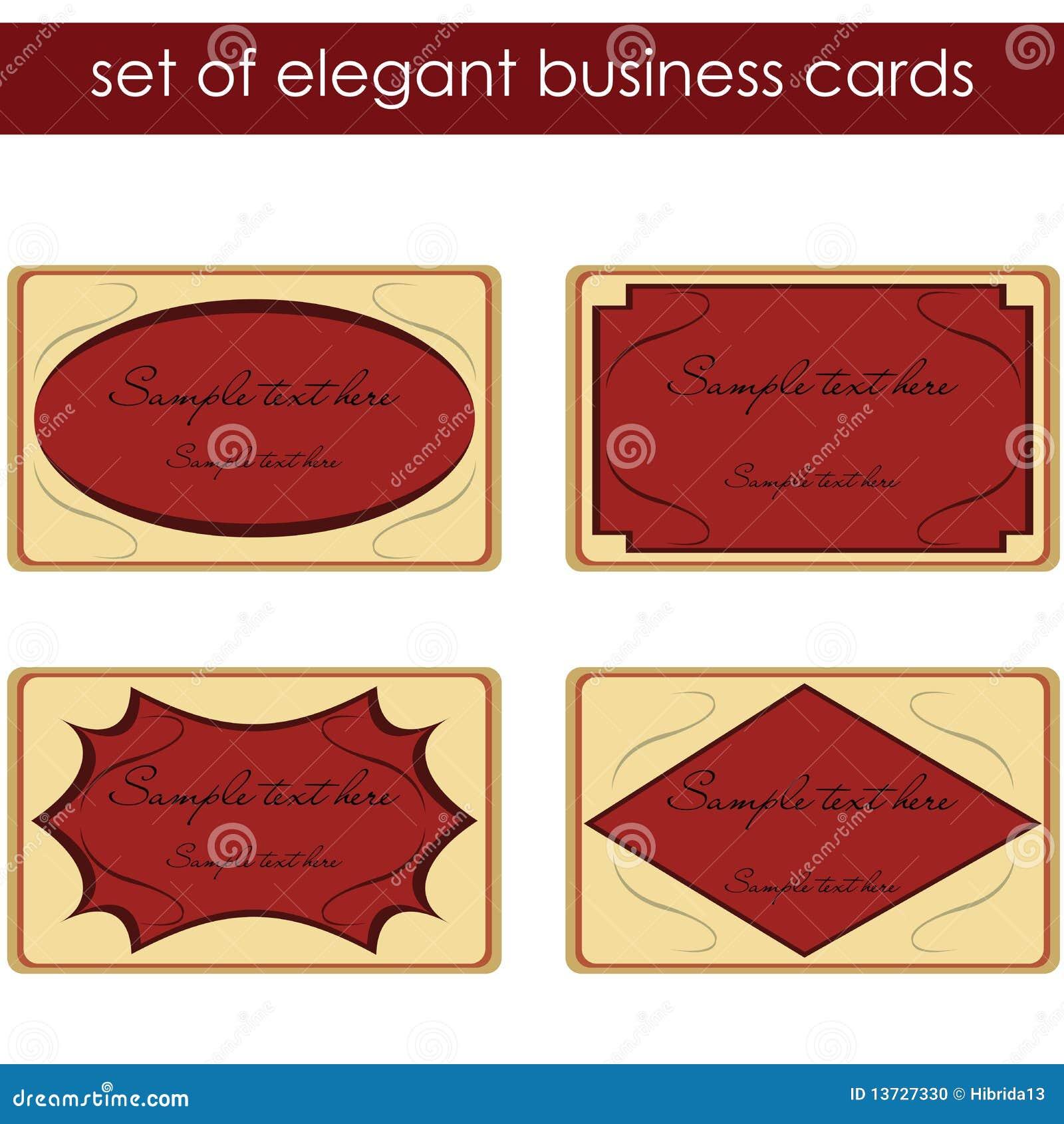Elegant Business Cards Stock Image