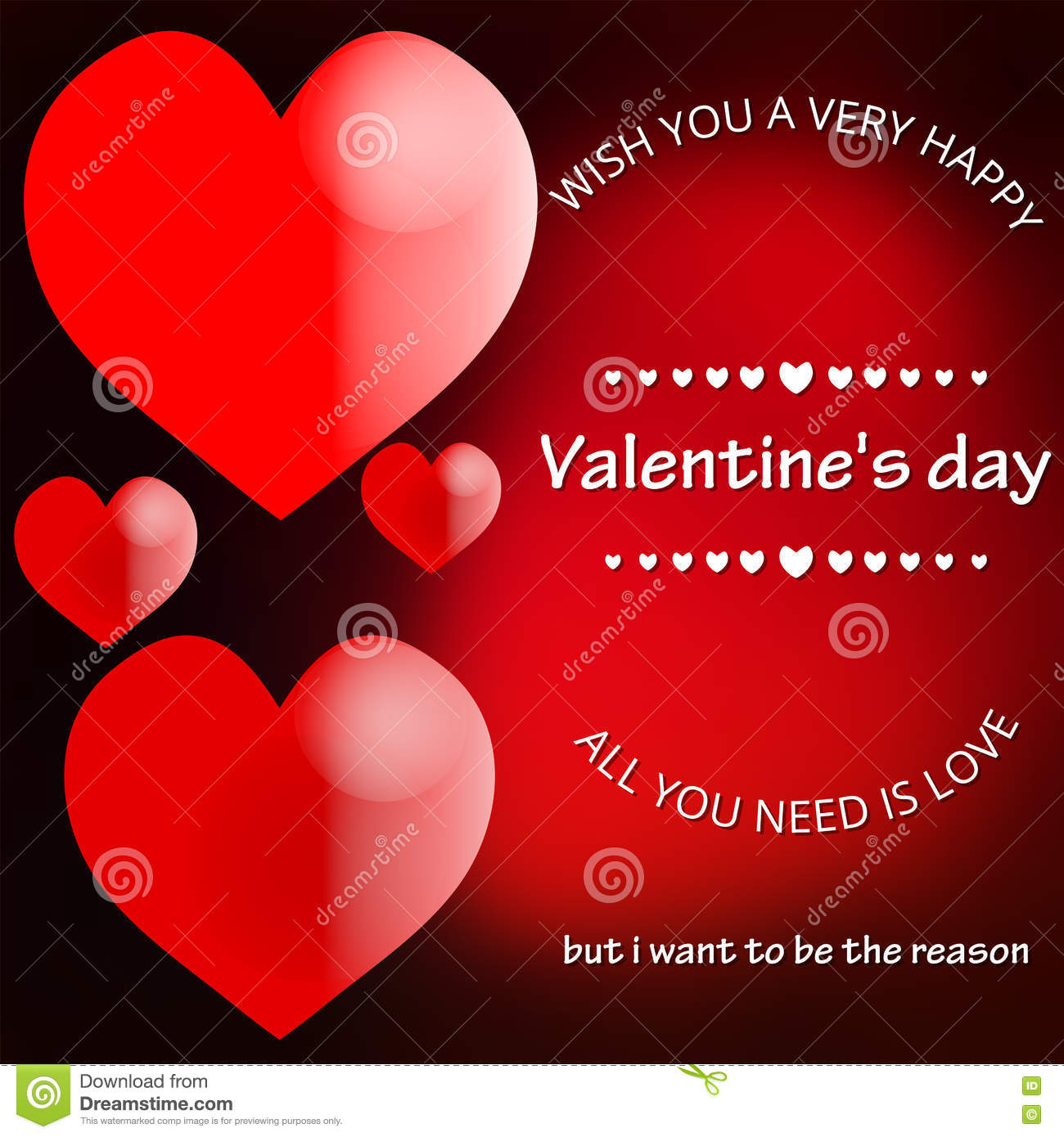 Elegant Card Blurred Background Valentines Day Love And