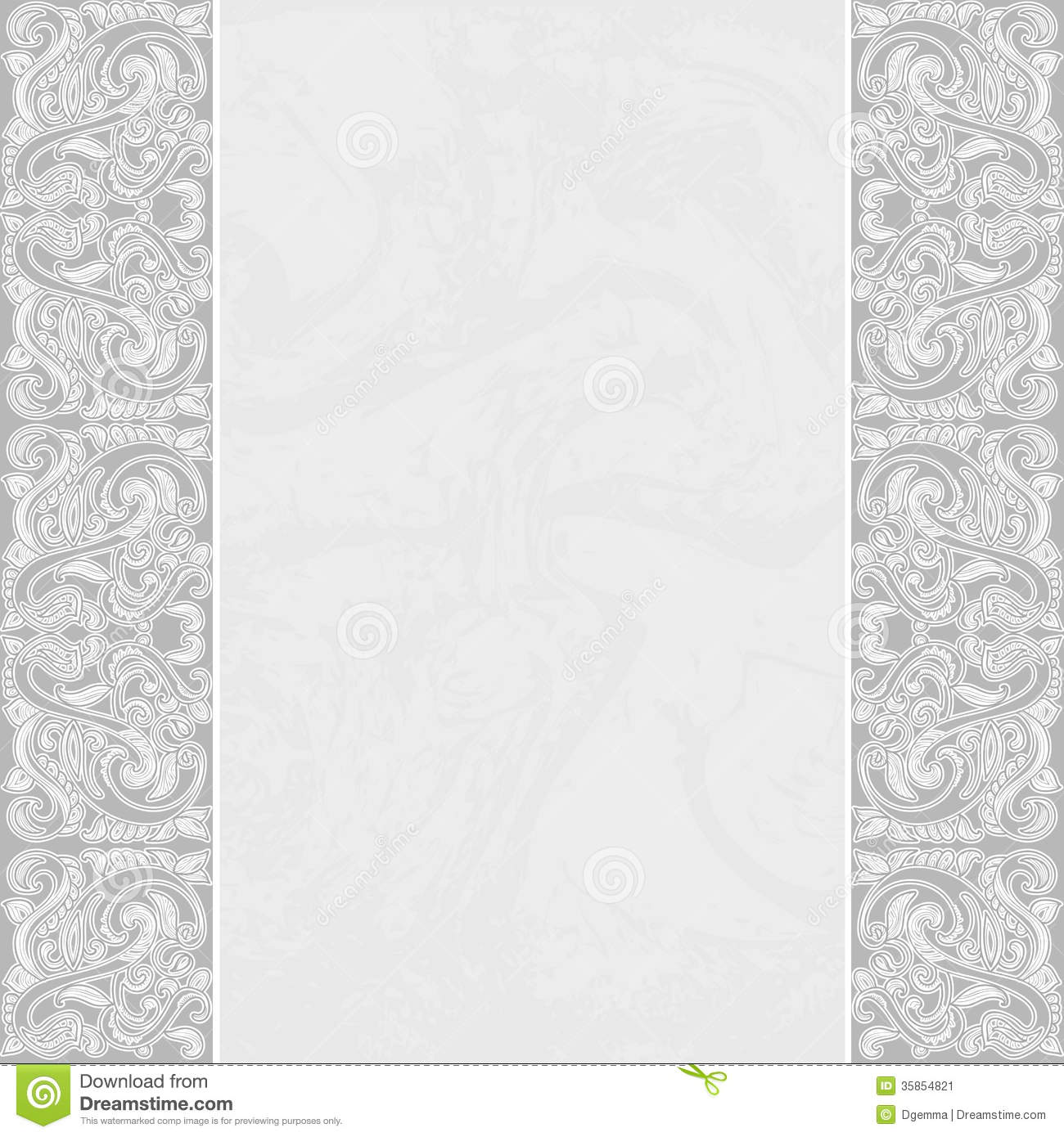 elegant card with a floral border stock vector
