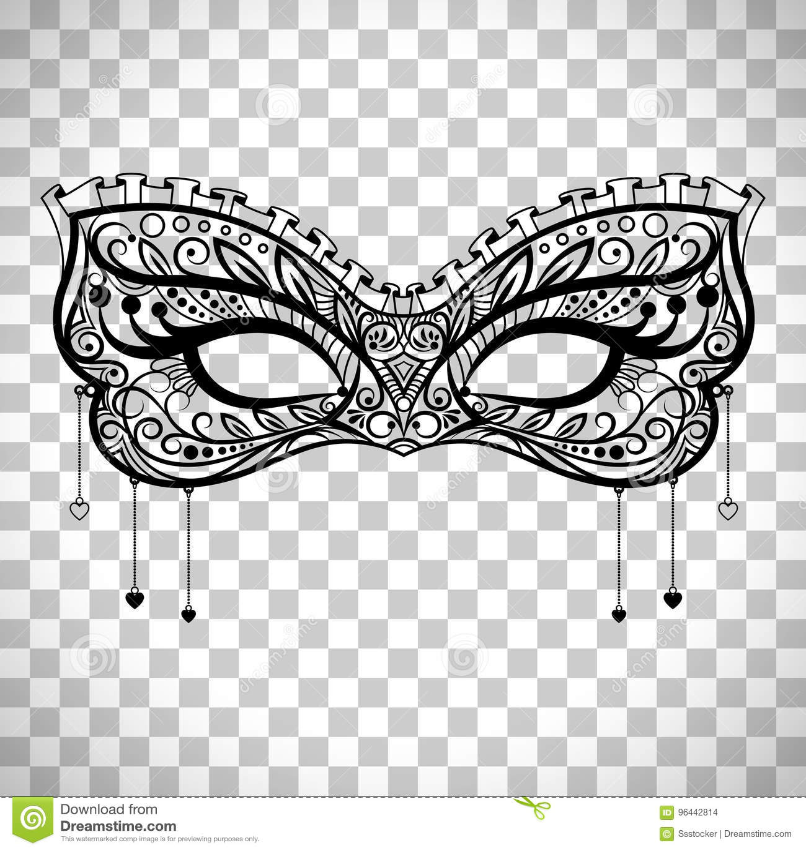 Transparent Background Masquerade Mask Stock Illustrations ...  Masquerade Mask Vector