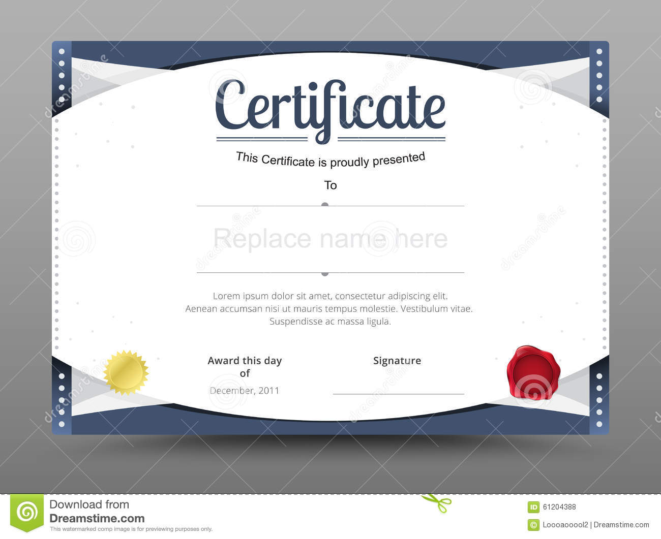 Elegant Certificate Template. Business Certificate Formal Theme.  Official Certificate Template