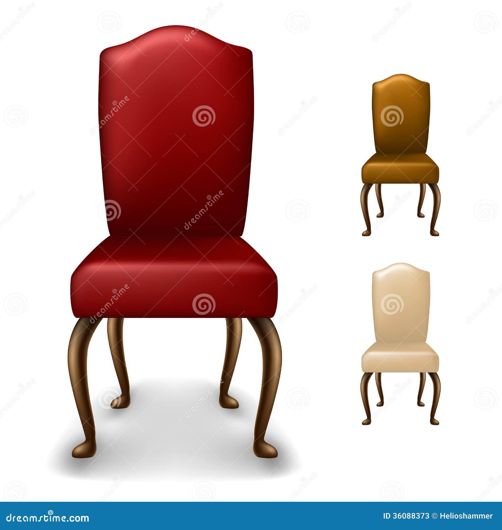 Elegant Chair Set Stock Vector Illustration Of Design 36088373