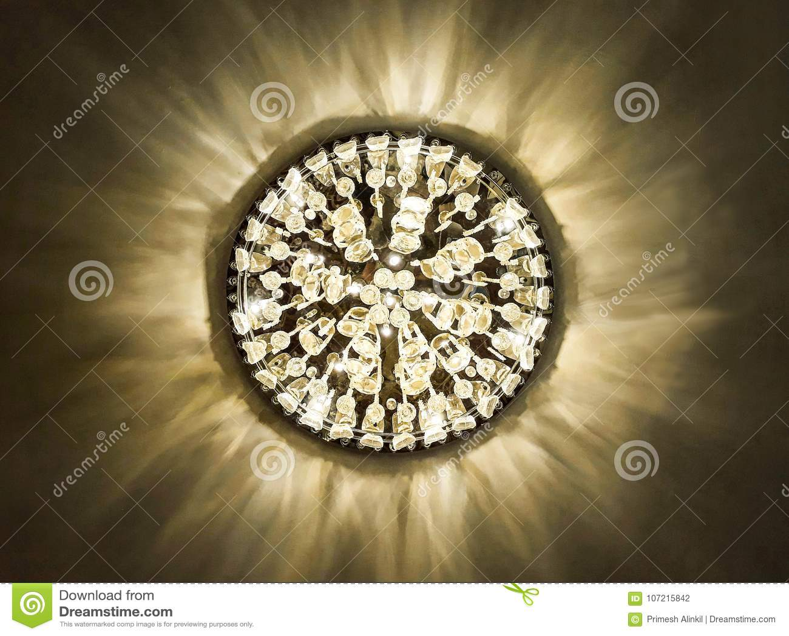 Elegant chandelier bottom view looks like sun stock photo image of royalty free stock photo arubaitofo Image collections