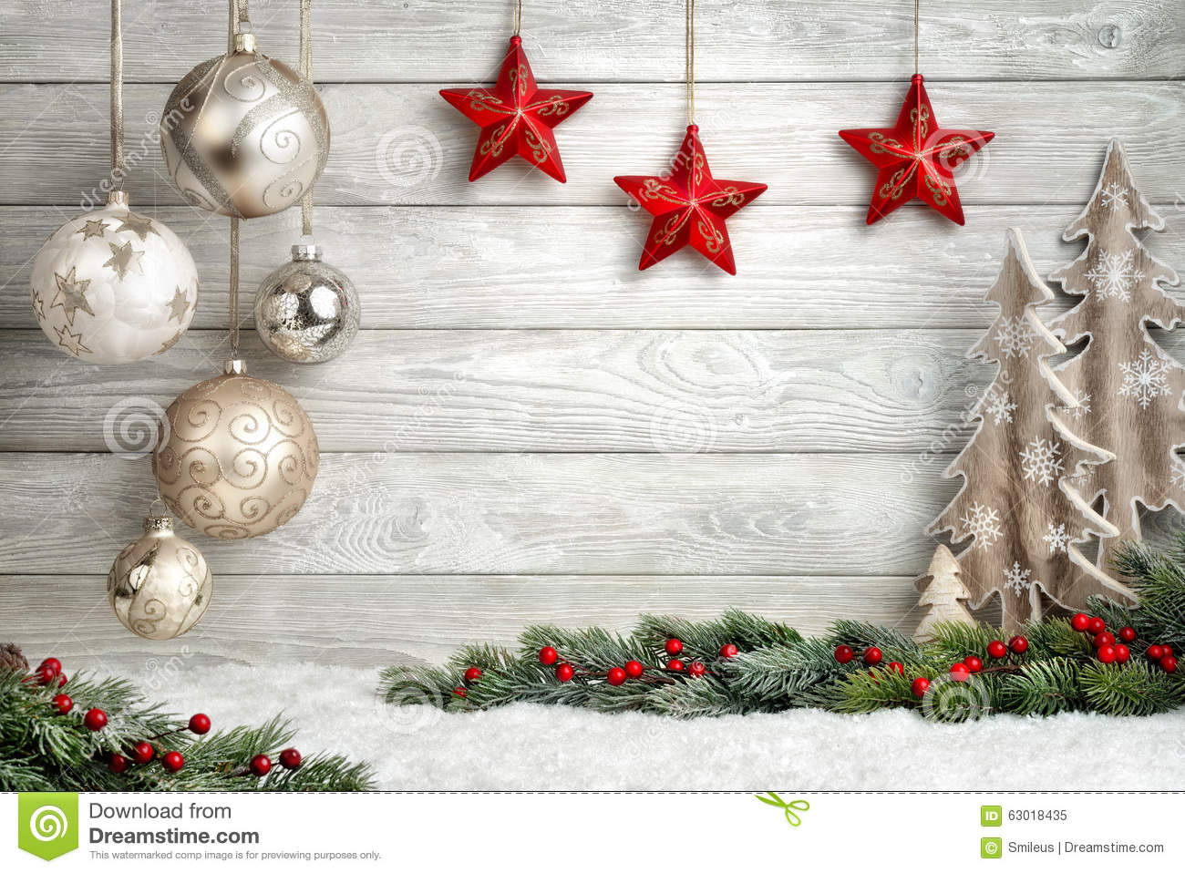 Elegant Christmas Background Stock Image