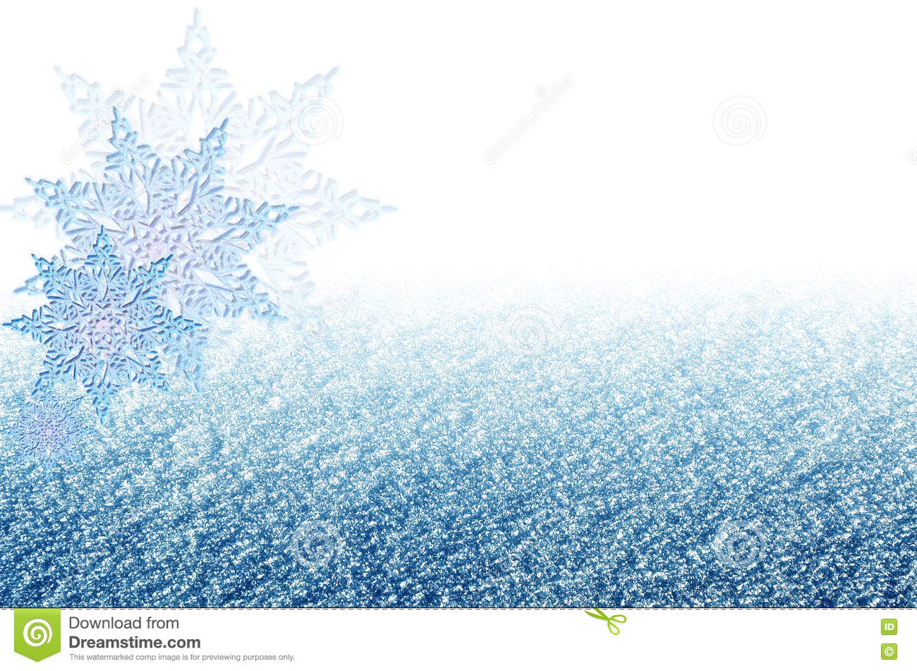 elegant christmas blue background with snowflakes new years holiday border with space for text