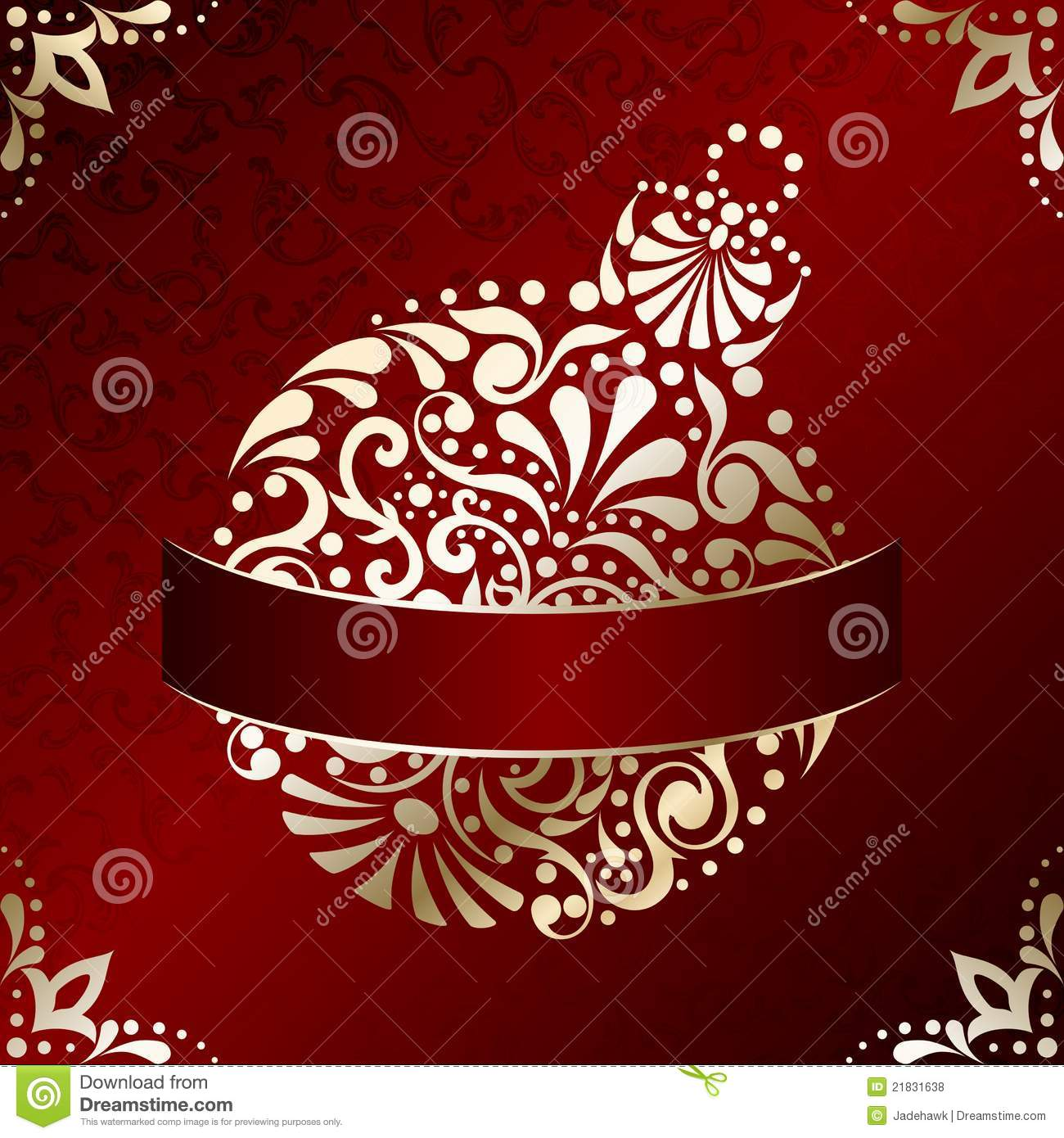 Elegant Christmas Card With Filigree Ornament Stock Vector ...
