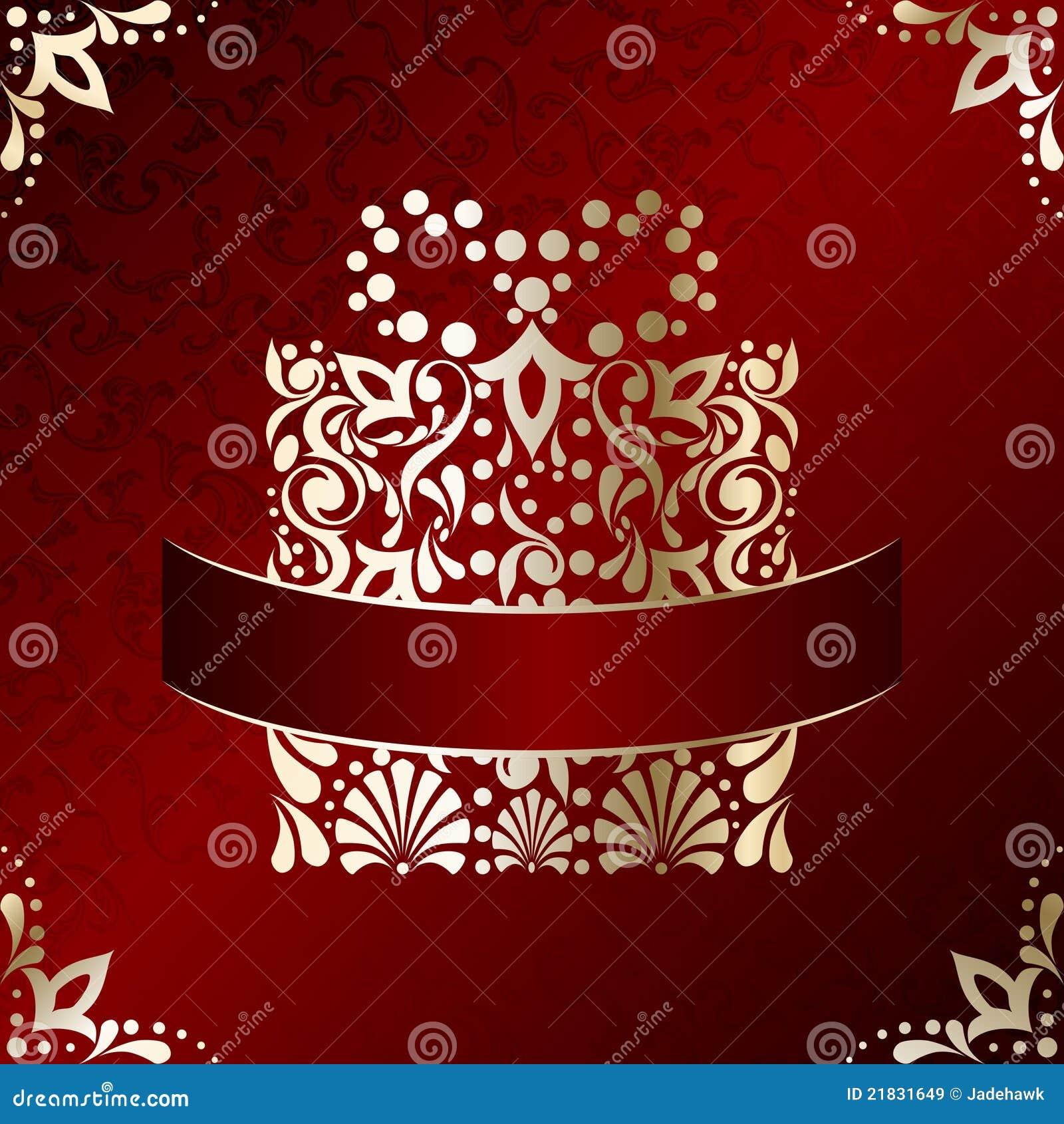 Elegant christmas card with filigree present stock vector for Elegant christmas card ideas