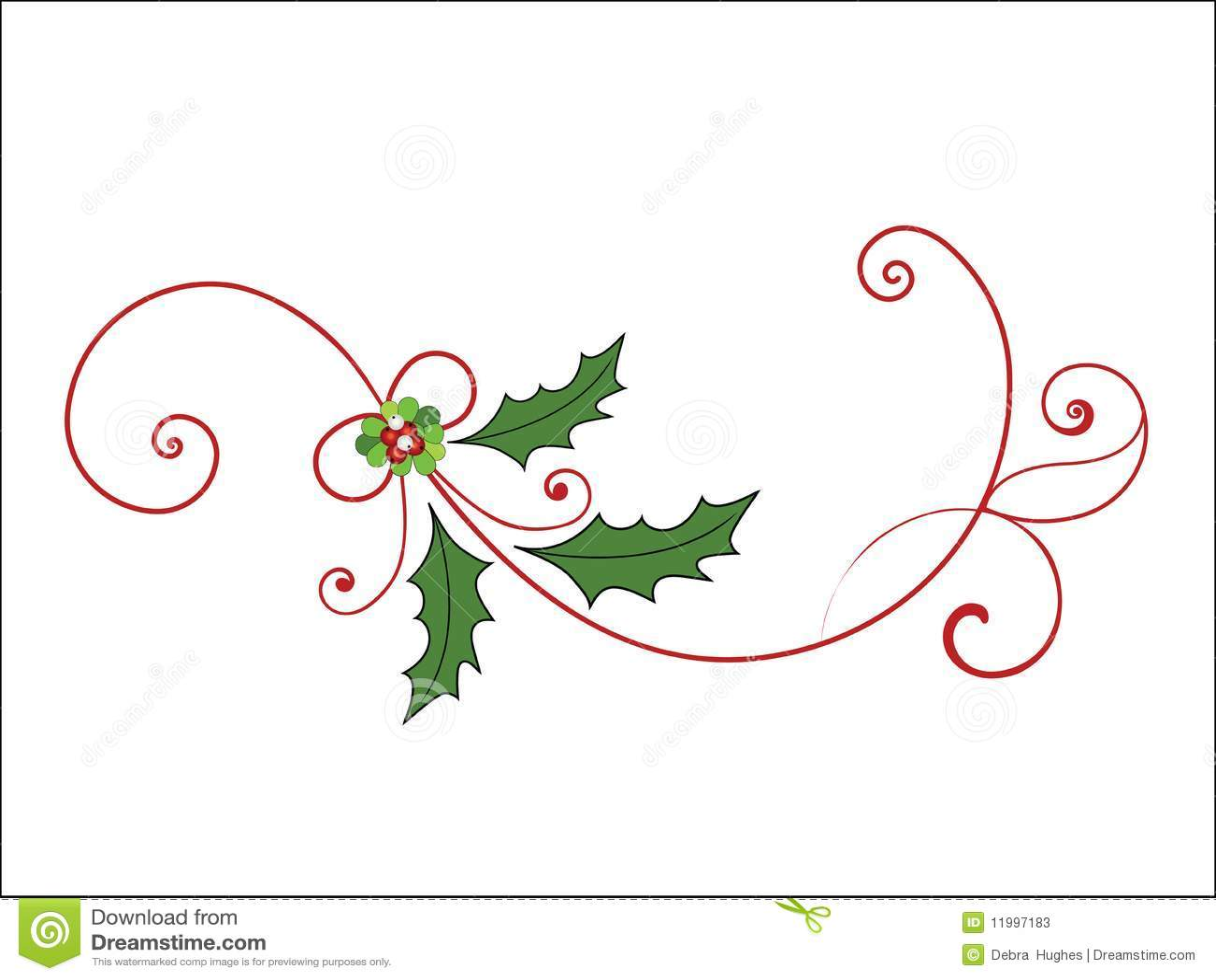 Elegant Christmas Flourish Stock Photos - Image: 11997183