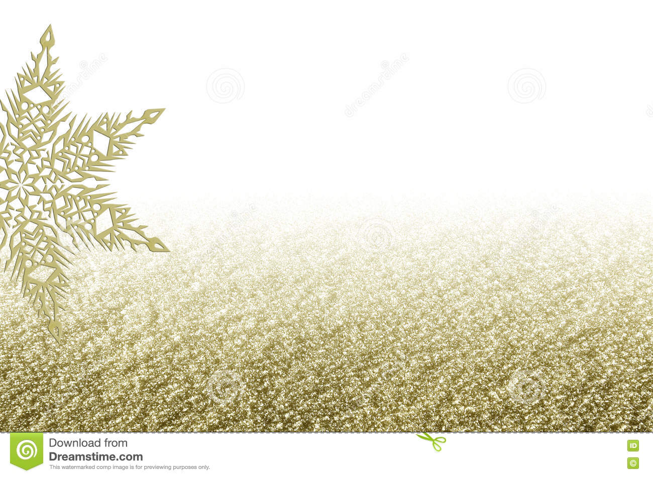 elegant christmas golden background with snowflake new years holiday border with space for text