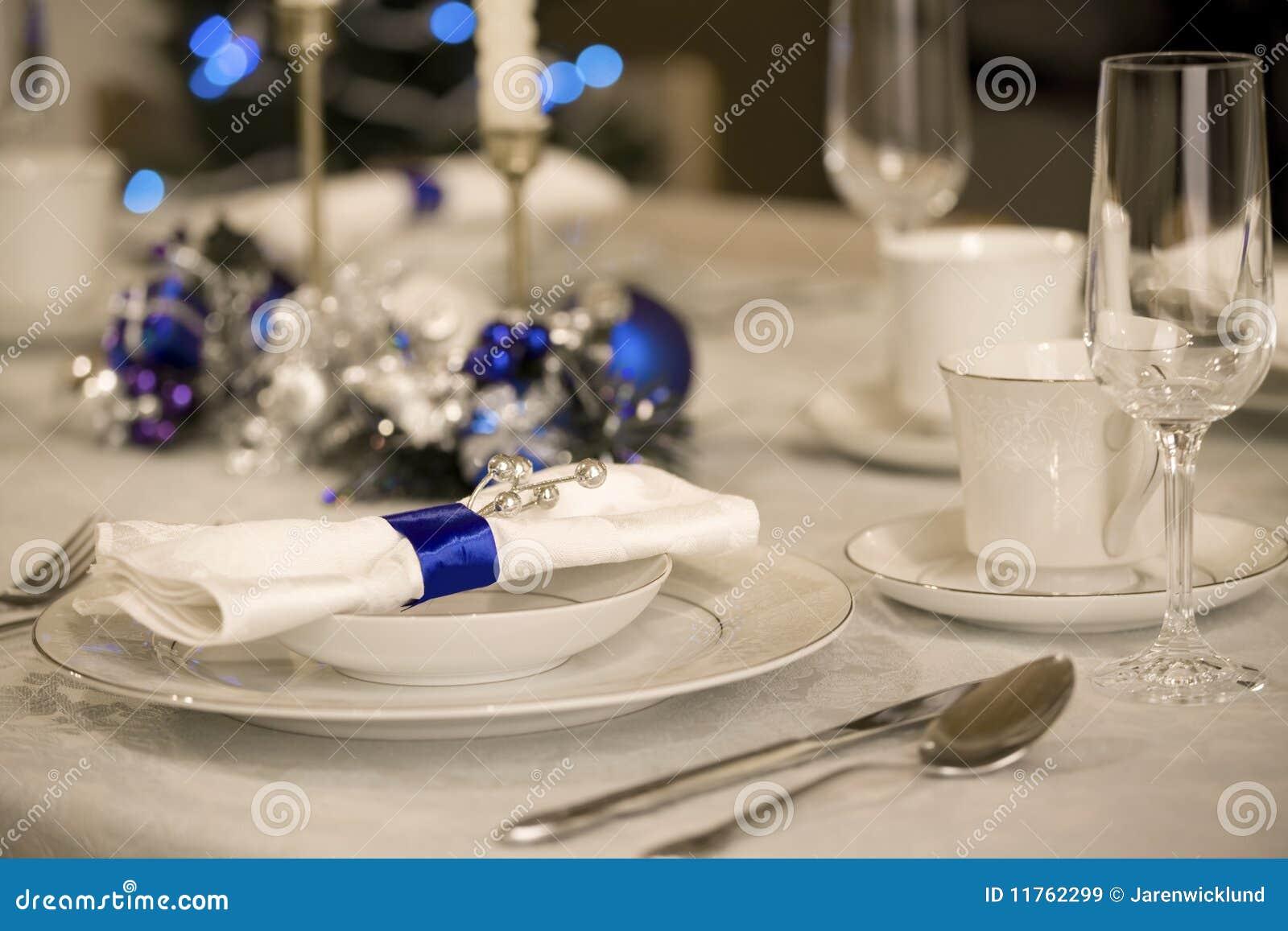 Elegant Christmas Table Setting Stock Image Image Of