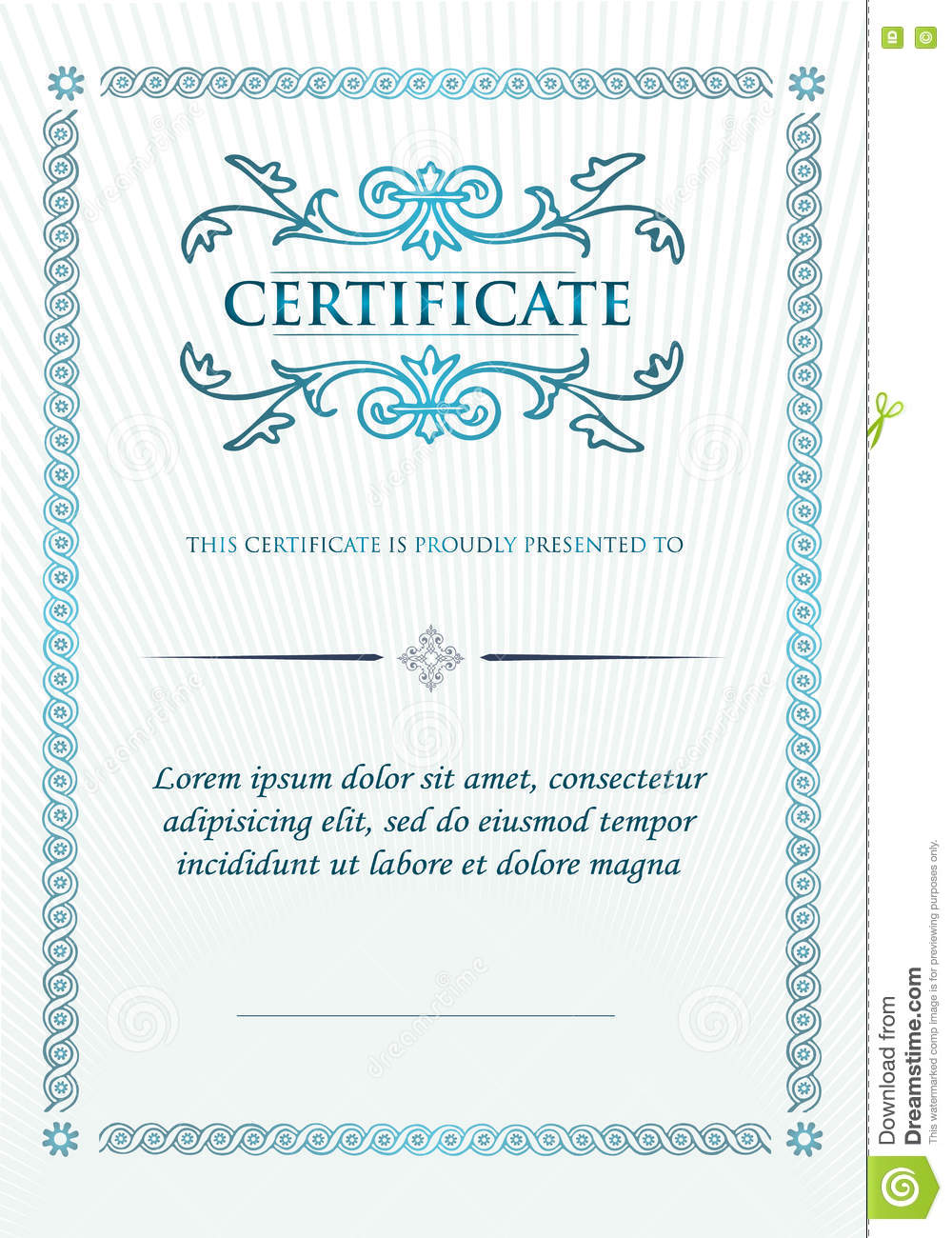 elegant classic certificate of achievement vintage frames and