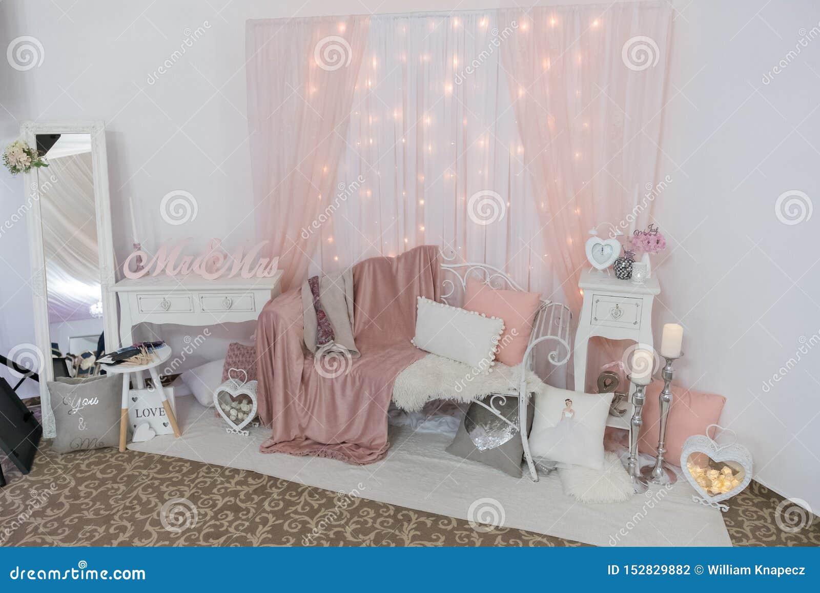 Elegant corner arrangement with clock and candles