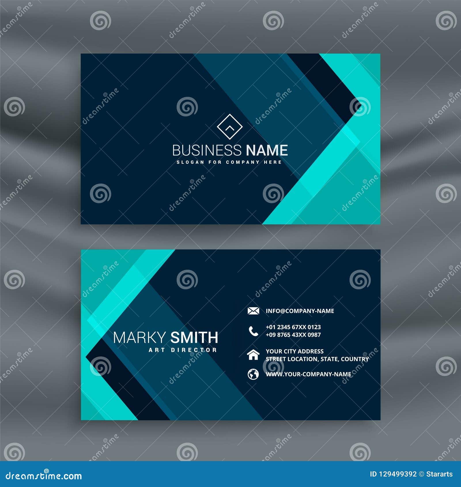 Elegant dark blue business card template