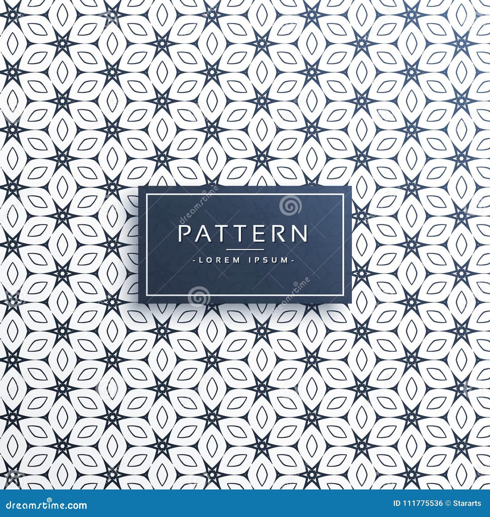 Elegant decorative vector pattern background