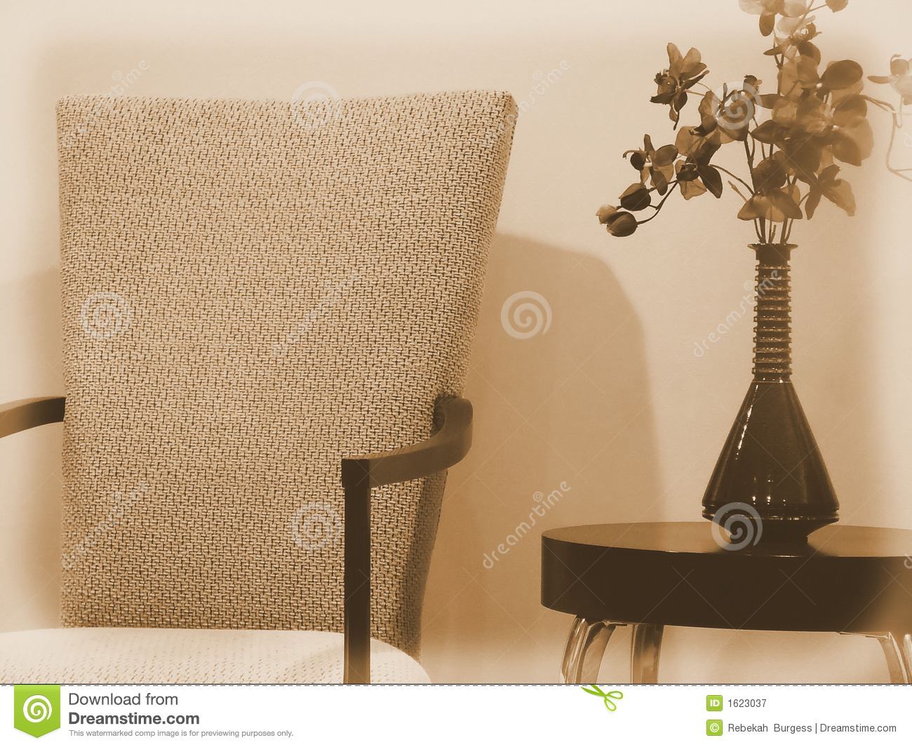 Dining Room Side Chairs Elegant Seating: Elegant Dining Room Chair With Side Table And Vase Of
