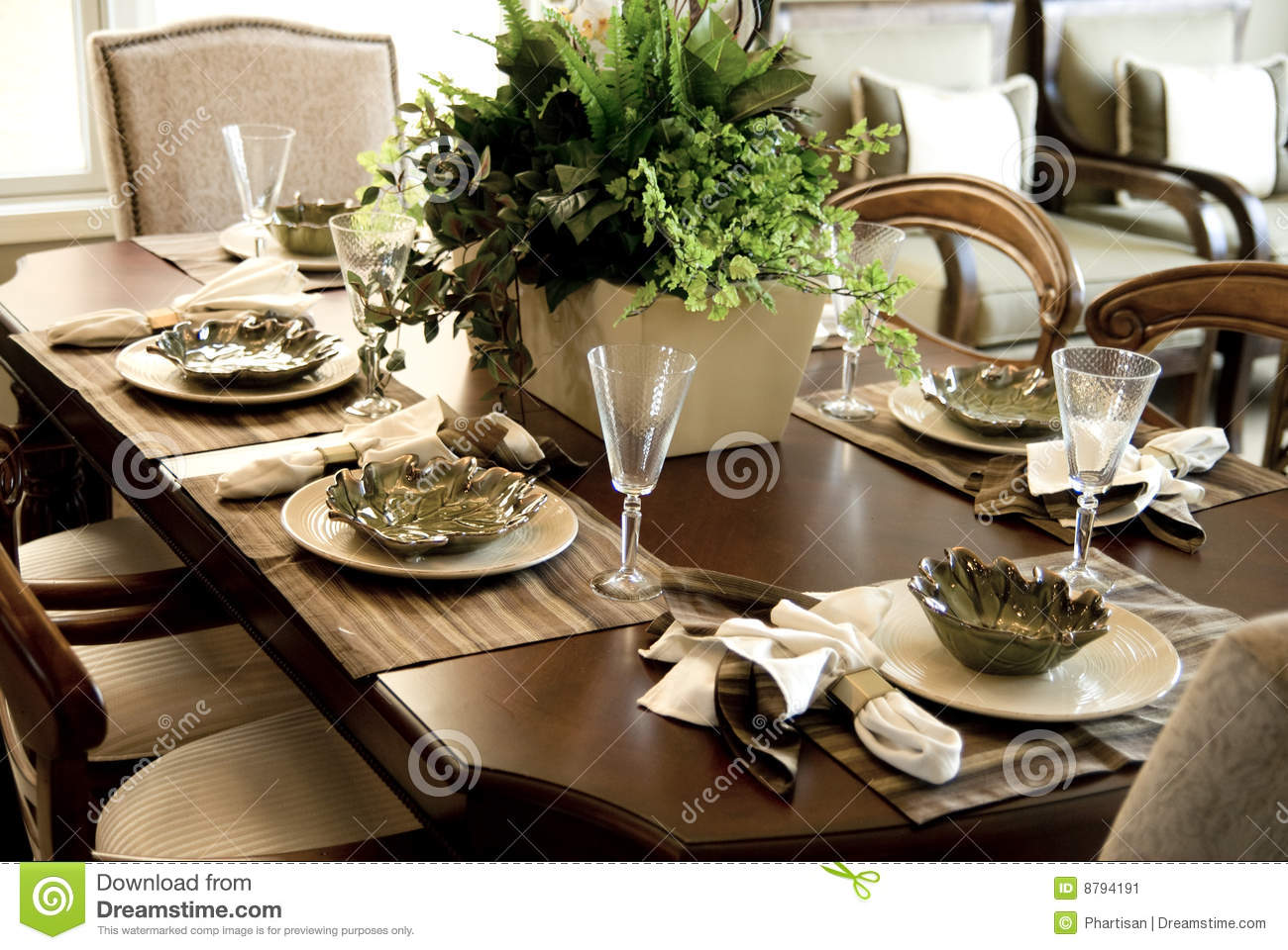 Elegant Dining Table Area Stock Image Image Of Party