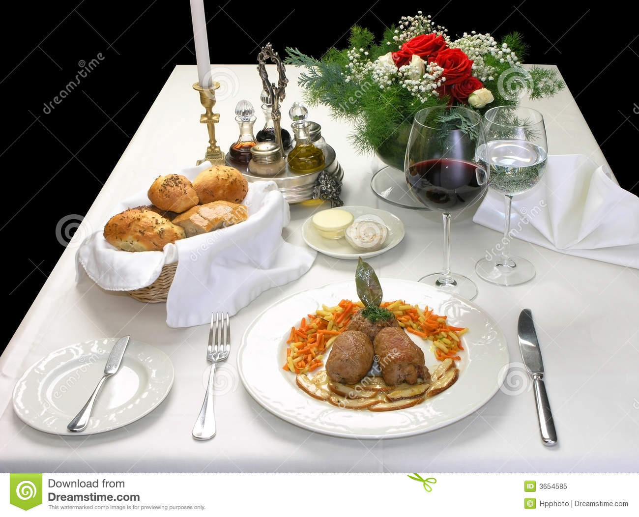 ELEGANT DINNER Royalty Free Stock Photo Image 3654585