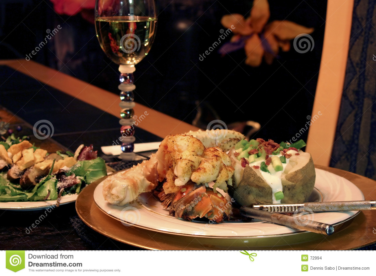 Elegant Dinner Stock Images Image 72994