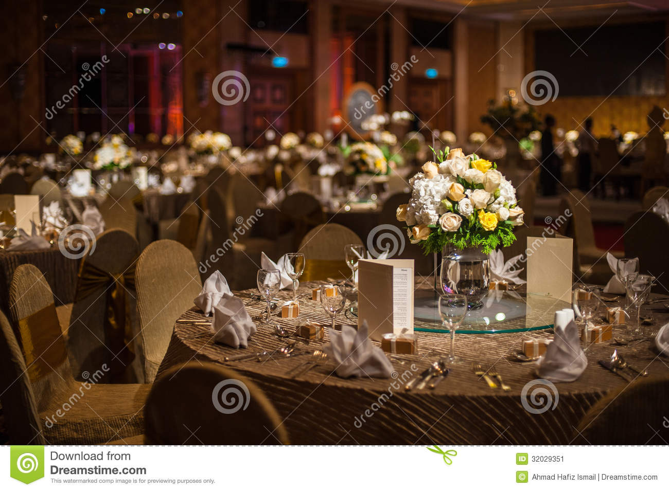Elegant Dinner Table Stock Image Image 32029351