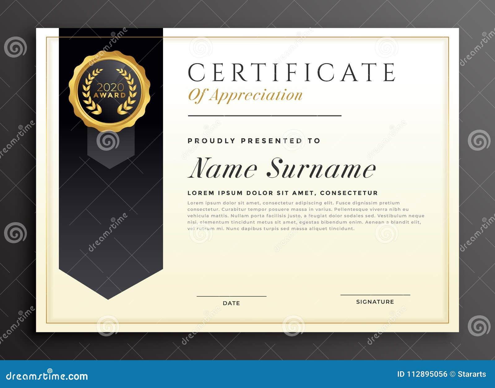 Elegant Diploma Award Certificate Template Design Stock ...