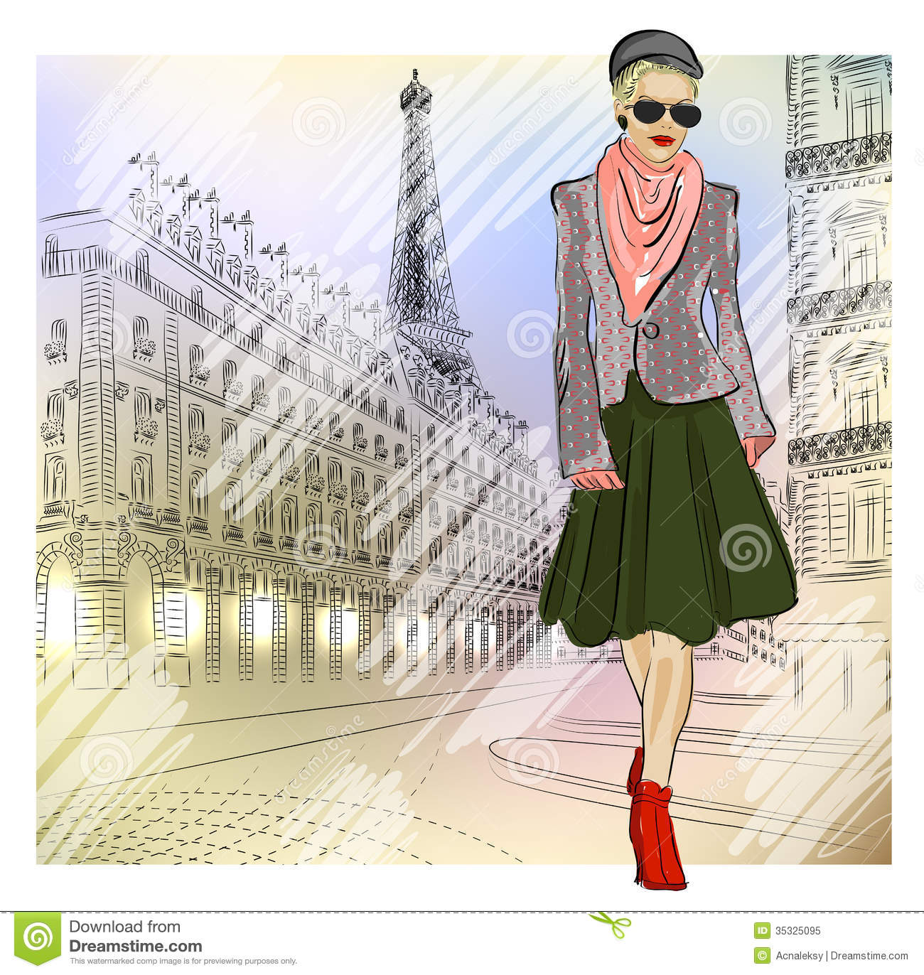 Elegant Fashion Girl In Sunglasses On The Street Royalty Free Stock Photo Image 35325095