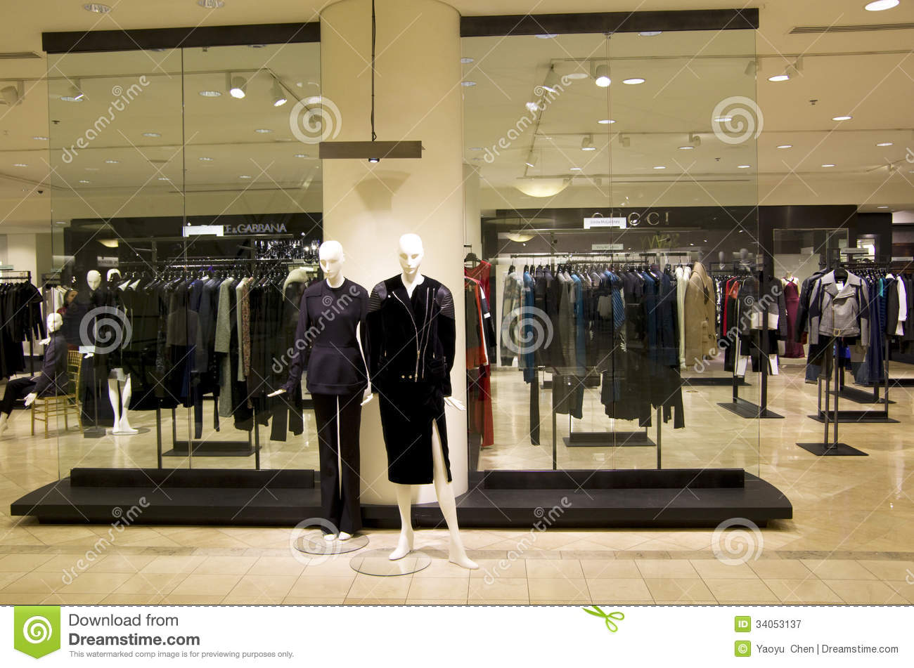 autumn and winter clothes. It is at Nordstrom Downtown Seattle