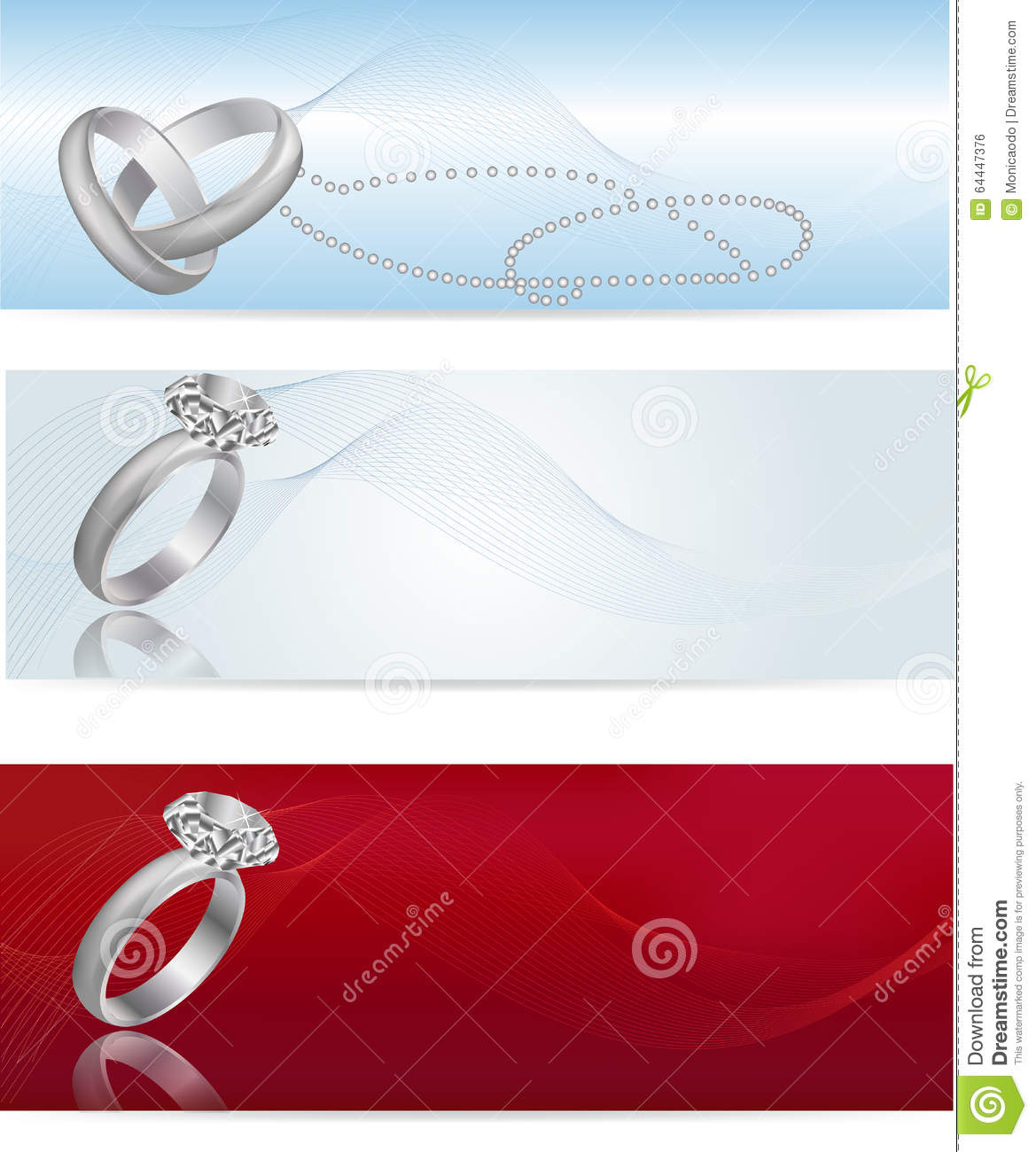 Elegant And Fashionable White Gold Engagement Ring Stock Vector