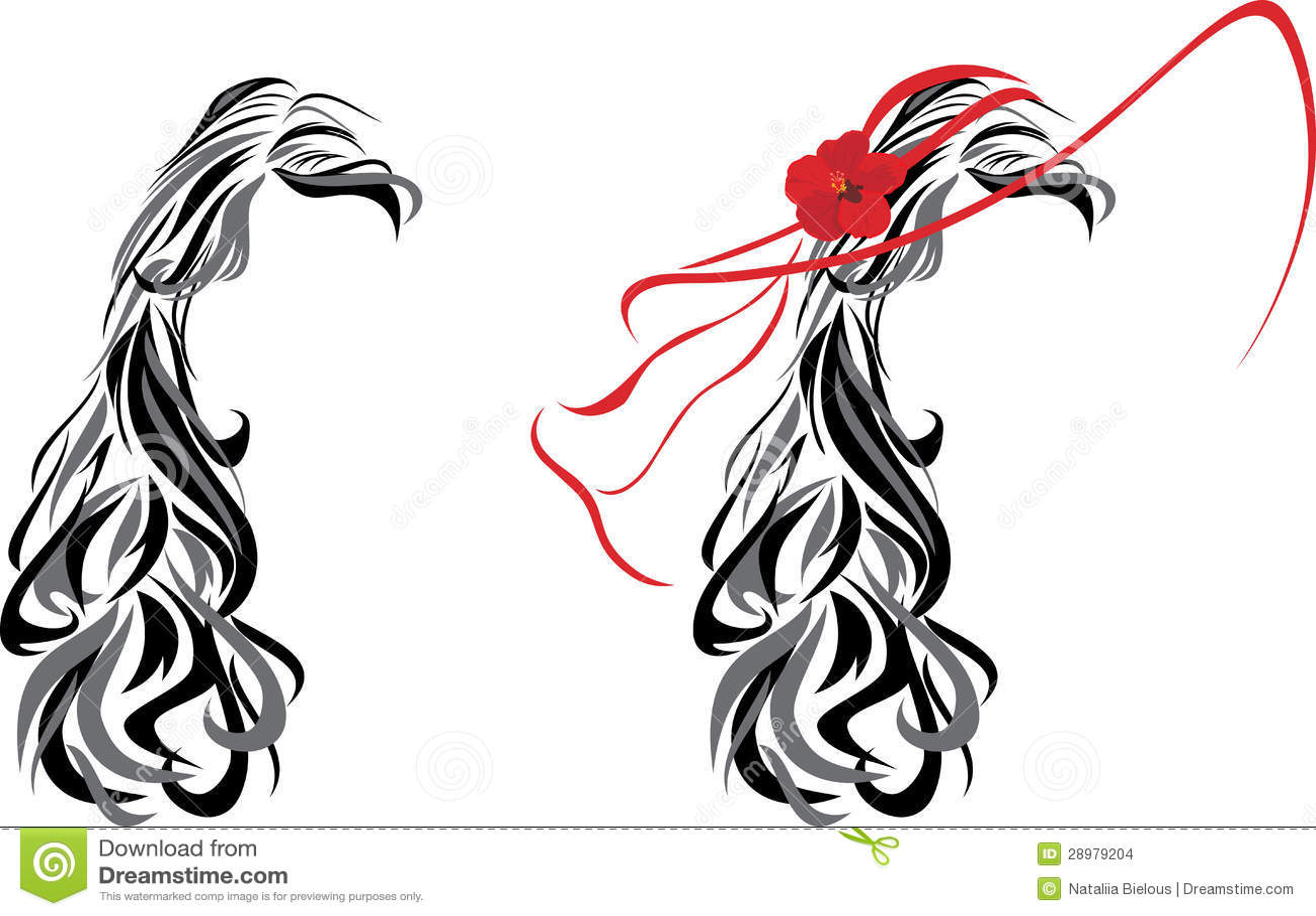 Elegant Female Hairstyle. Icon For Design Royalty Free Stock ...