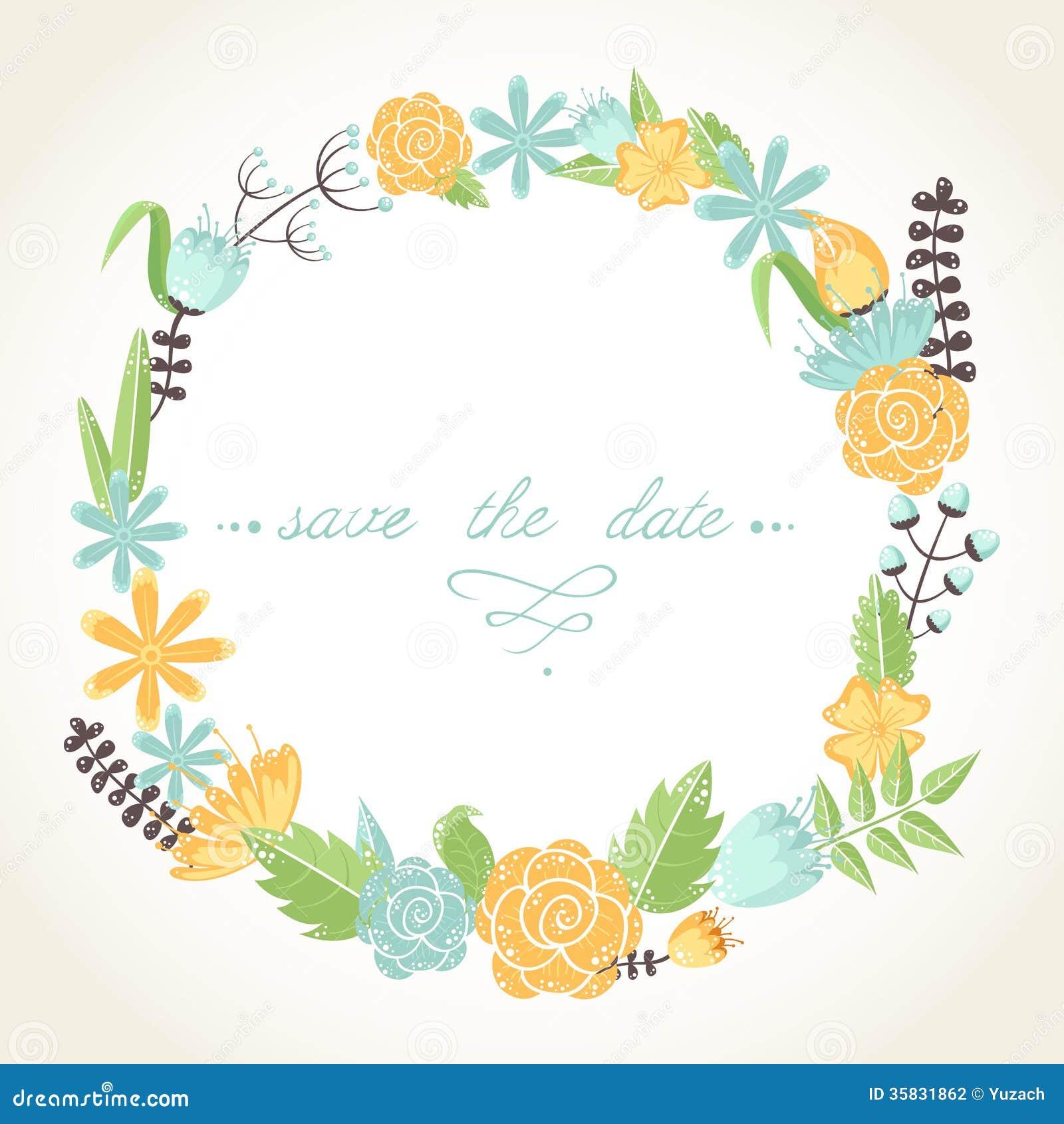 Elegant Floral Congratulation Card Stock Vector - Image: 35831862