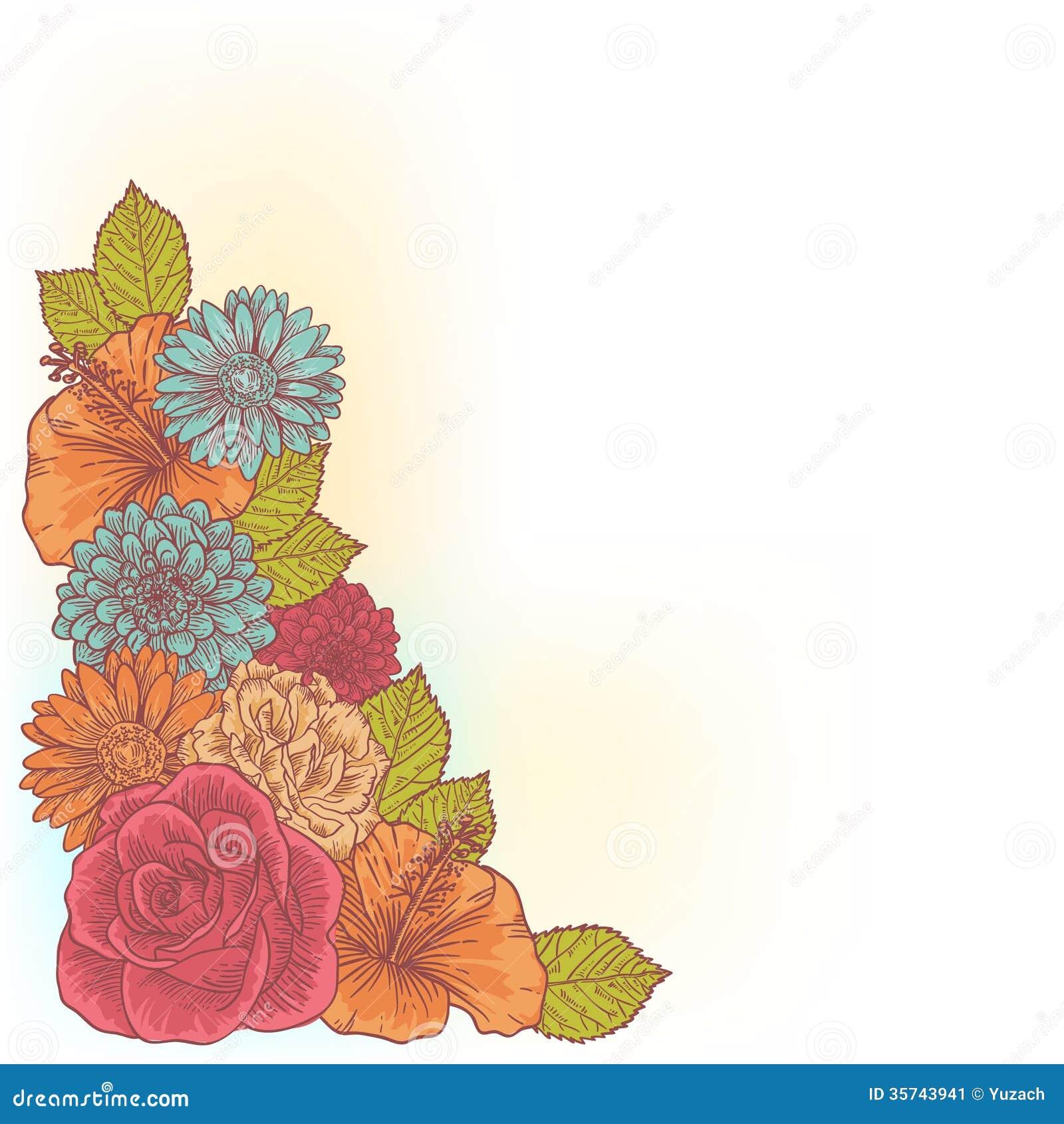 Elegant Corner Flower Borders