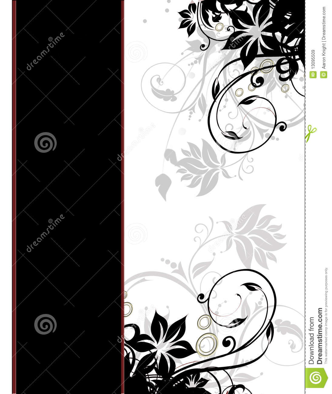 Elegant Floral Page Border Template Cover Page Stock Illustration