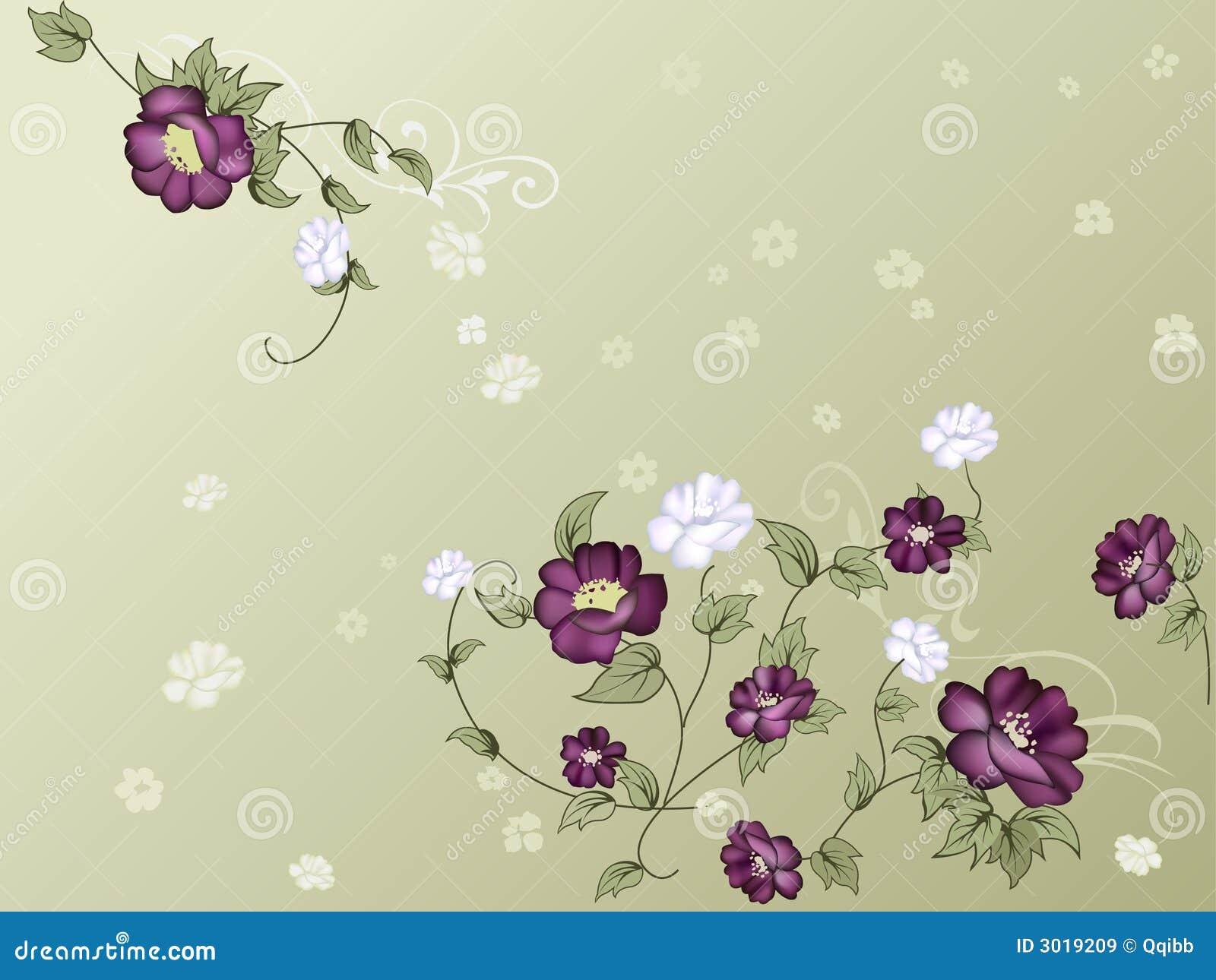 Elegant floral wallpap...