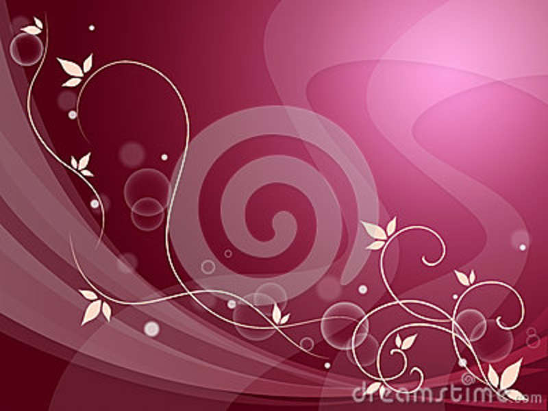 Elegant Flowery Background Means Delicate Decoration Or
