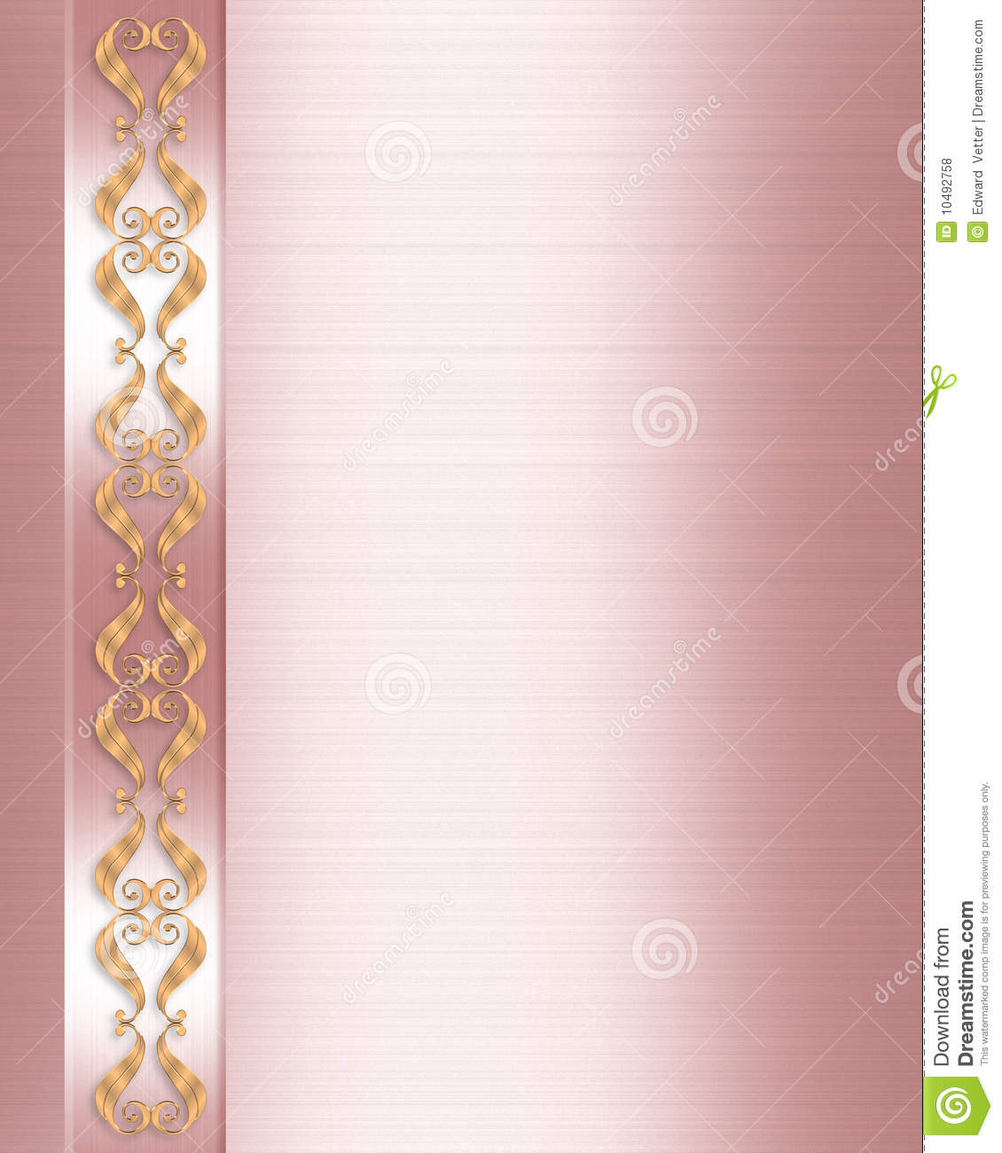 Elegant formal invitation border pink satin stock illustration download comp stopboris Gallery