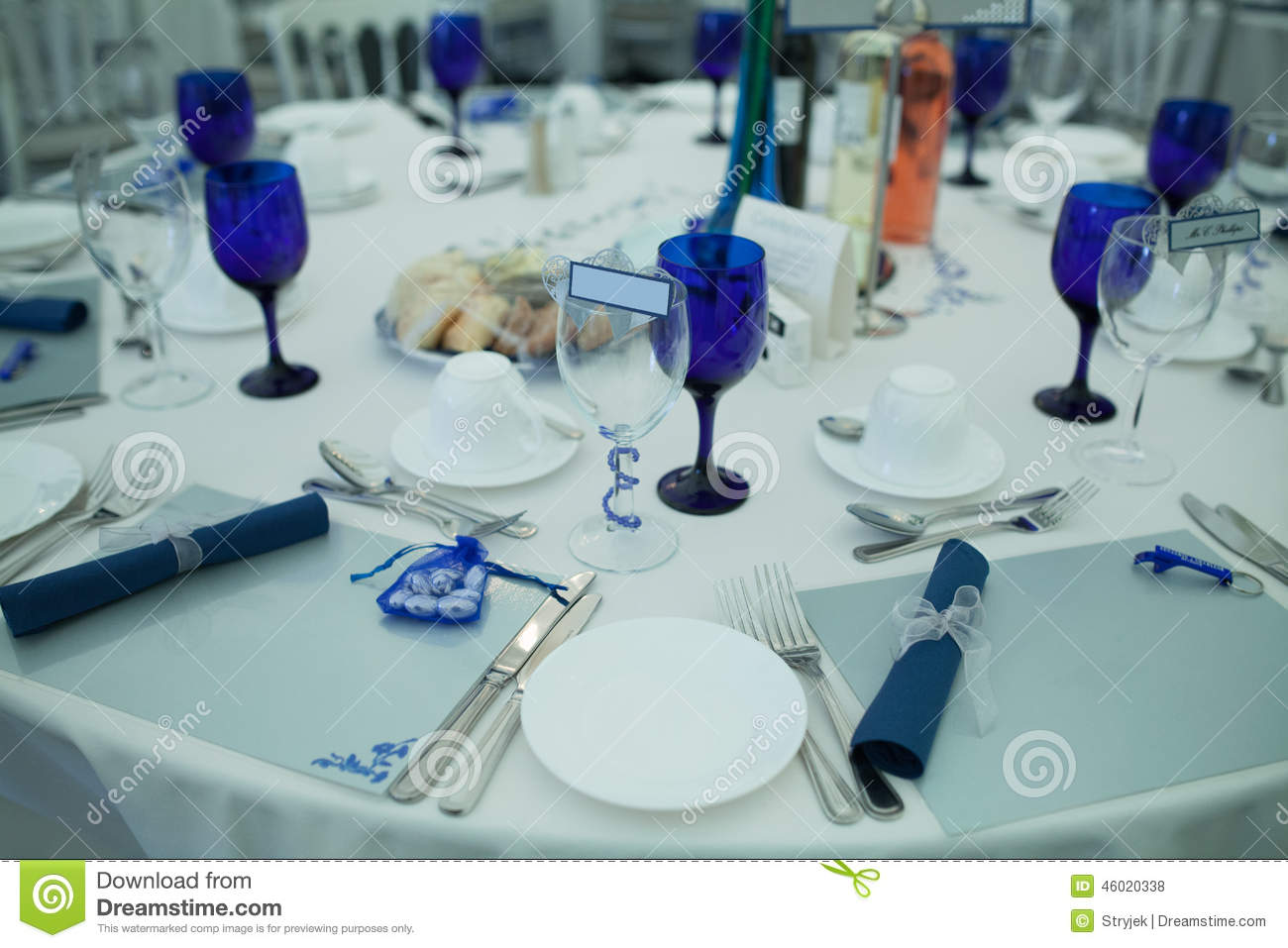 Elegant Formal Table At A Wedding Reception Stock Photo