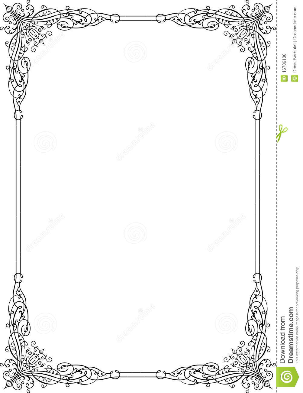 Elegant frame stock vector. Illustration of classical - 16706136