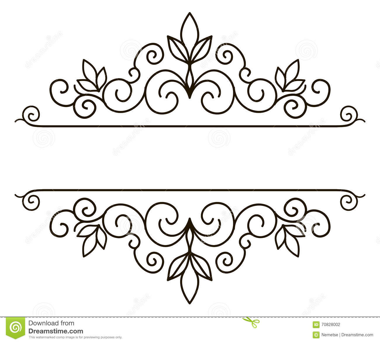 Vector decorative frame. Elegant element for design template, place ...