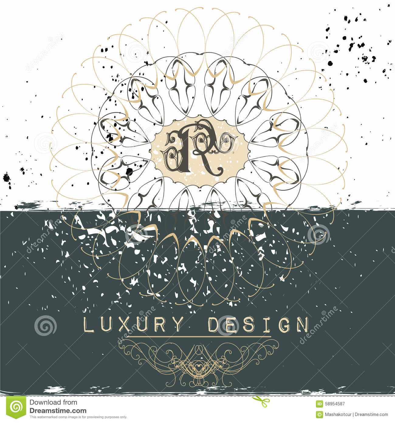 Elegant Frame Or Invitation Card For Design Stock Vector