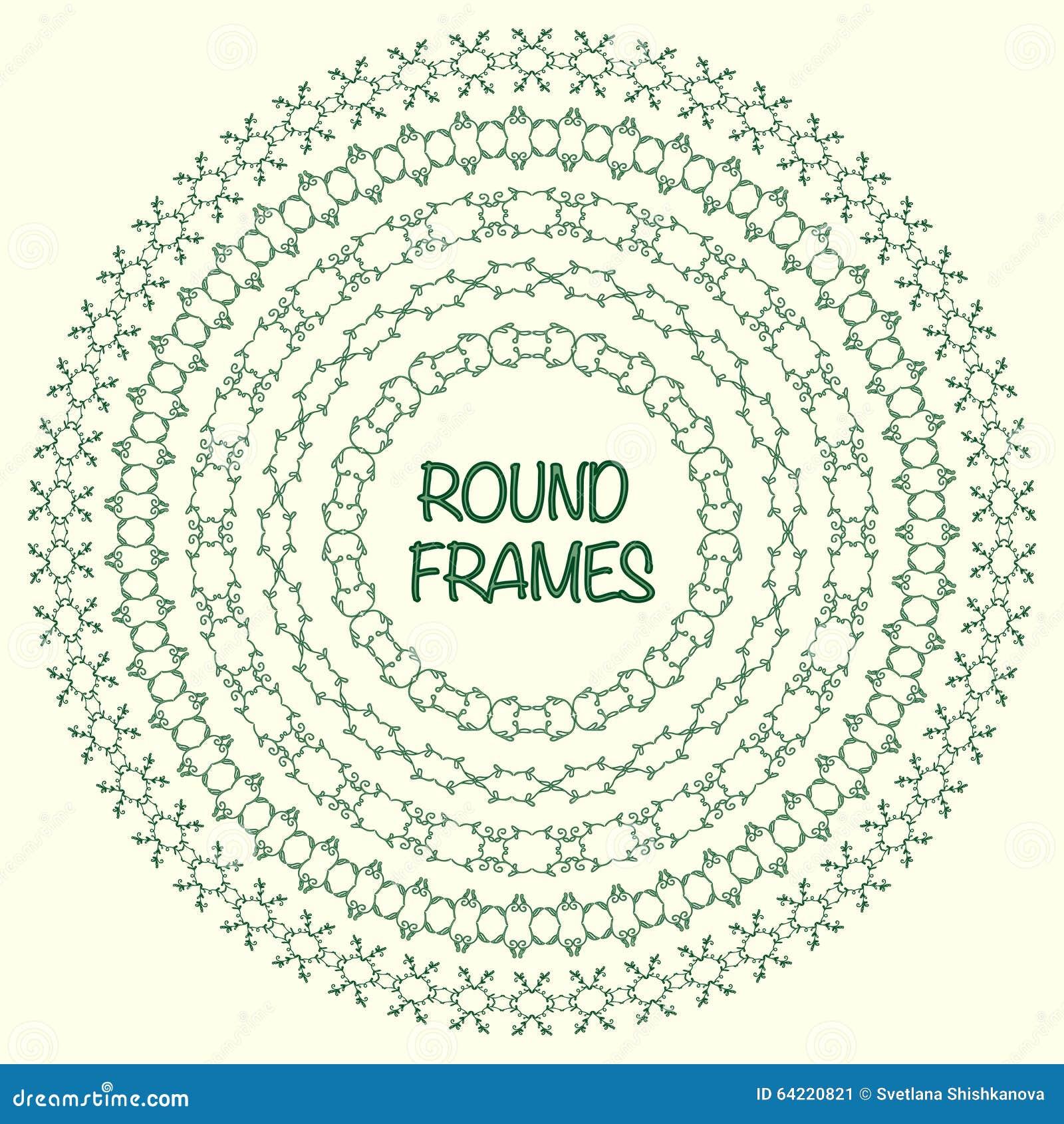 elegant frame templates borders design round frames set vintage decorative elements vector - Elegant Frames