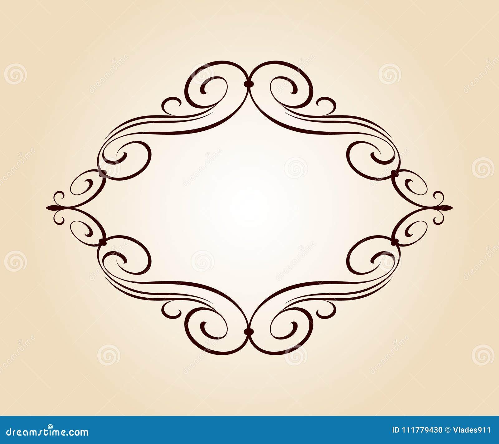 Elegant frame.Vector illustration.Vintage style.Brown beige.