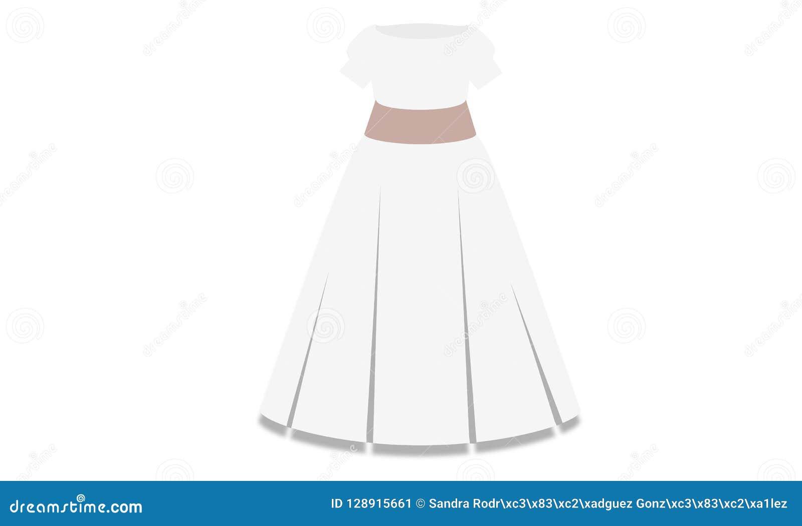 Elegant frocked klänning på midjan för beröm